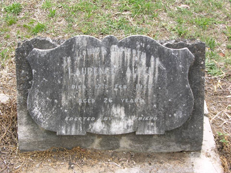 Laurence ALPEN - NSWPF - Drowned 17 Feb 1928 - Grave 3