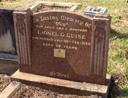 Lionel George GUISE - Grave