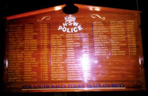 NSW Police Slain On Duty