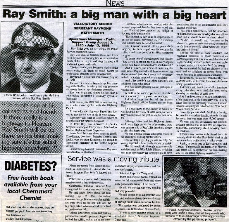 Article from Goulburn Post, Wednesday 22 July 1998