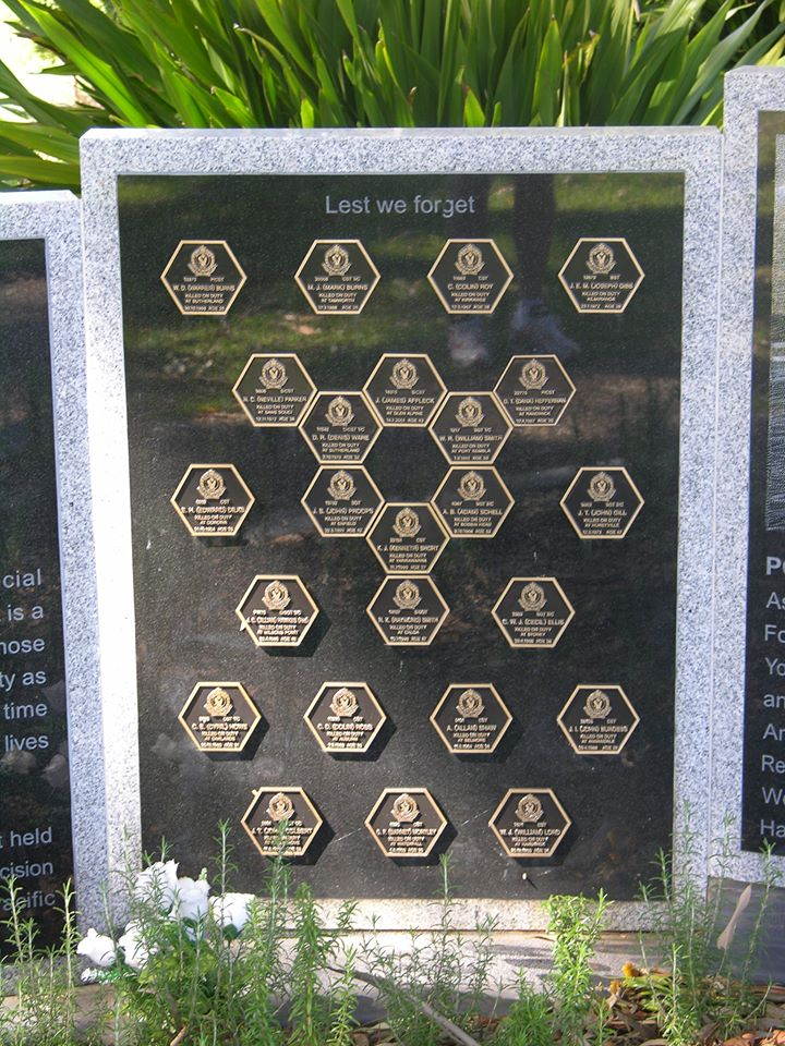 Woronora Cemetery Police Memorial Wall