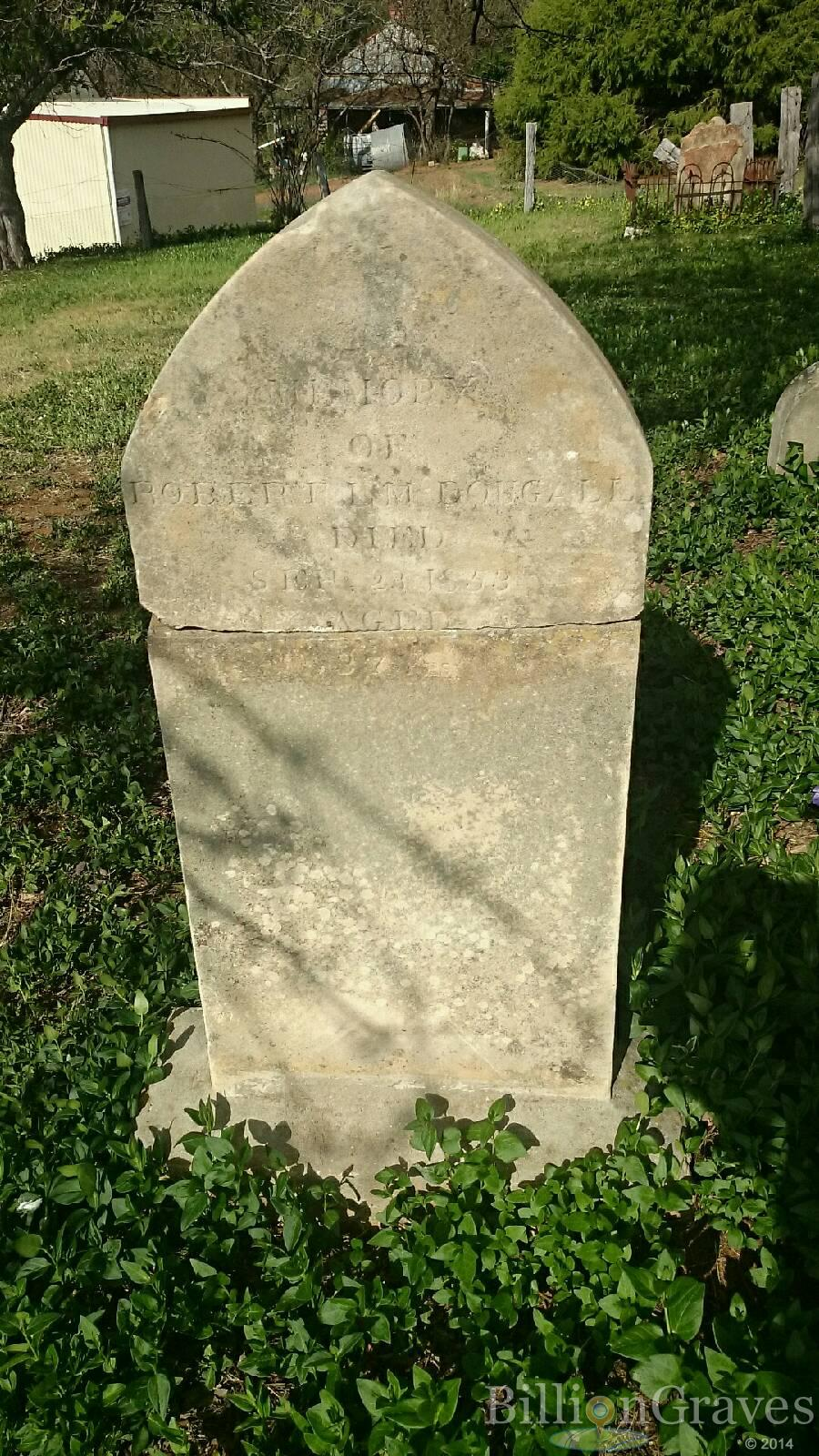 Robert Lovell McDOUGALL - NSWPF - Died 23 Sept 1853 - grave 1