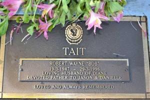 Robert Wayne TAIT headstone - Narrabri Lawn Cemetery. Portion A2, row Q