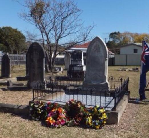 Sgt Beatty's grave, photo courtesy of Windy Gale - FB
