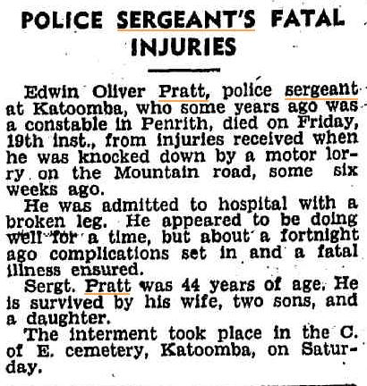 Sgt Edwin Pratt - Nepean Times ( Penrith NSW ) Thursday 25 November 1946 page 1 of 10