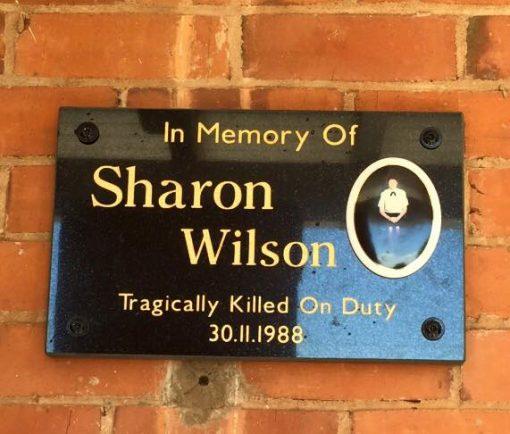 In Memory of Sharon WILSON. Tragically Killed On Duty 30.11.1988. Monday 30 November 2015