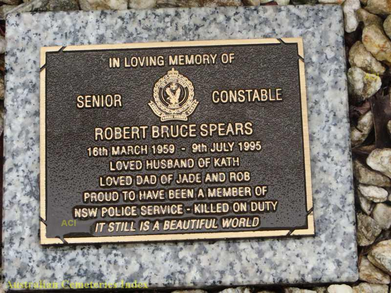 Grave plate for Robert SPEARS