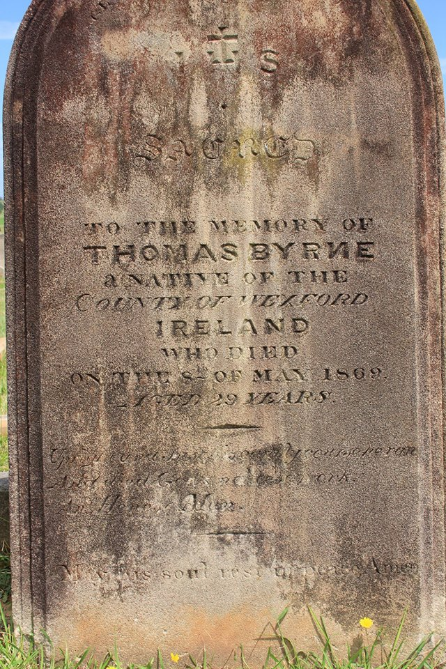Thomas BYRNE - NSWPF - Died Camden 8 May 1869 - grave