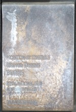 Warren Dennis BURNS, NSWPF, died 30 October 1968  Touch plate at the National Police Wall of Remembrance, Canberra.