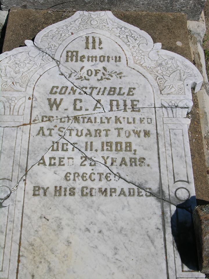 William Cochrane ADIE - Grave 2 - NSWPF - Killed 11 October 1908