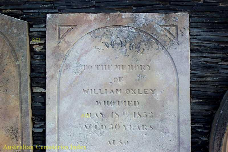 William OXLEY - NSWPF - Manslaughter - 19 May 1853 - Gravestone 1