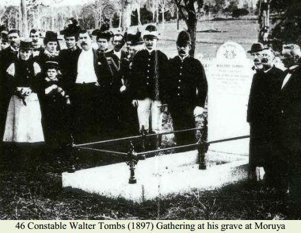 Constable Walter Tombs (1897) Gathering at this grave at Moruya Cemetery