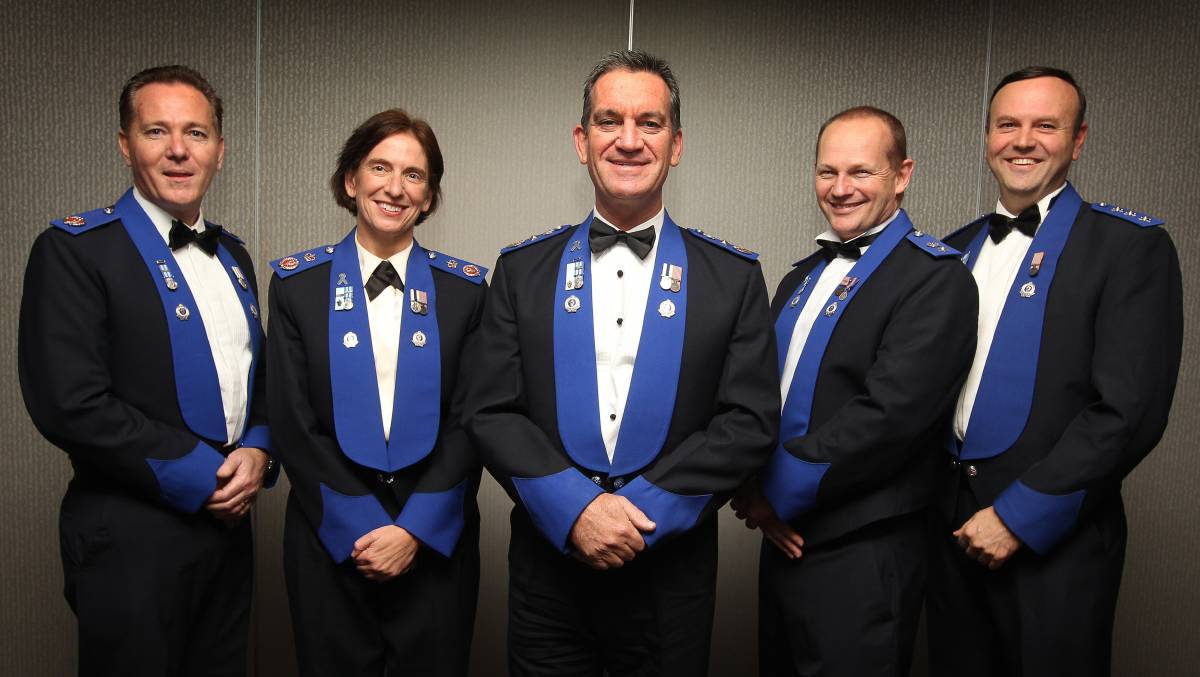 In 2012, Assistant Commissioner Michael Fuller, Deputy Commissioner Catherine Burn, Police Commissioner Andrew Scipione and Superintendent Wayne Starling.