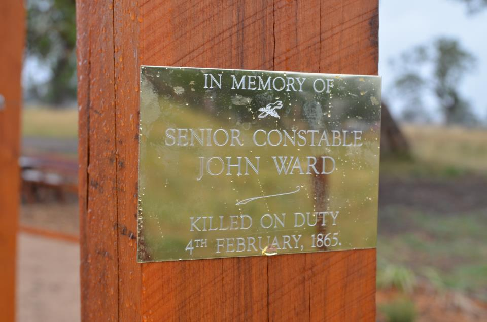 Senior Constable John Ward - Plaque