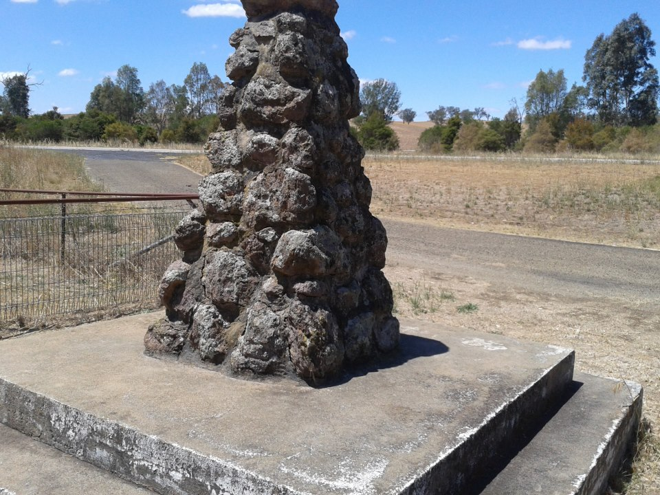 Located on the north bound lane of the Hume Hwy near Jugiong.