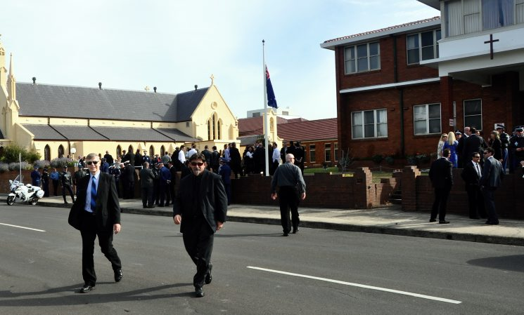 Funeral Service for Chief Inspector Graeme Donnelly. Photos by Greg Callander