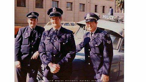 In Picture: Reg HALL, Alan WENDT, Harry BRAIN outside of Darlinghurst Police Station with the Police Truck 3/1