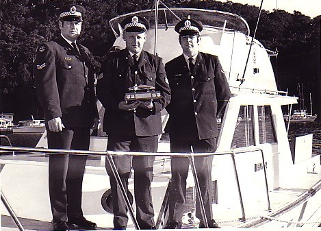 Picture: Police Launch Falcon crew (from left): Senior Constable Gordon (Boot) Wellings, Sergeant 3rd Class H. (Buster) Brown, Constable First Class Brian (Friendly) Friend. Image courtesy Brian Friend.