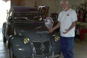 Robert Burgess with a 1959 Deux Chevaux