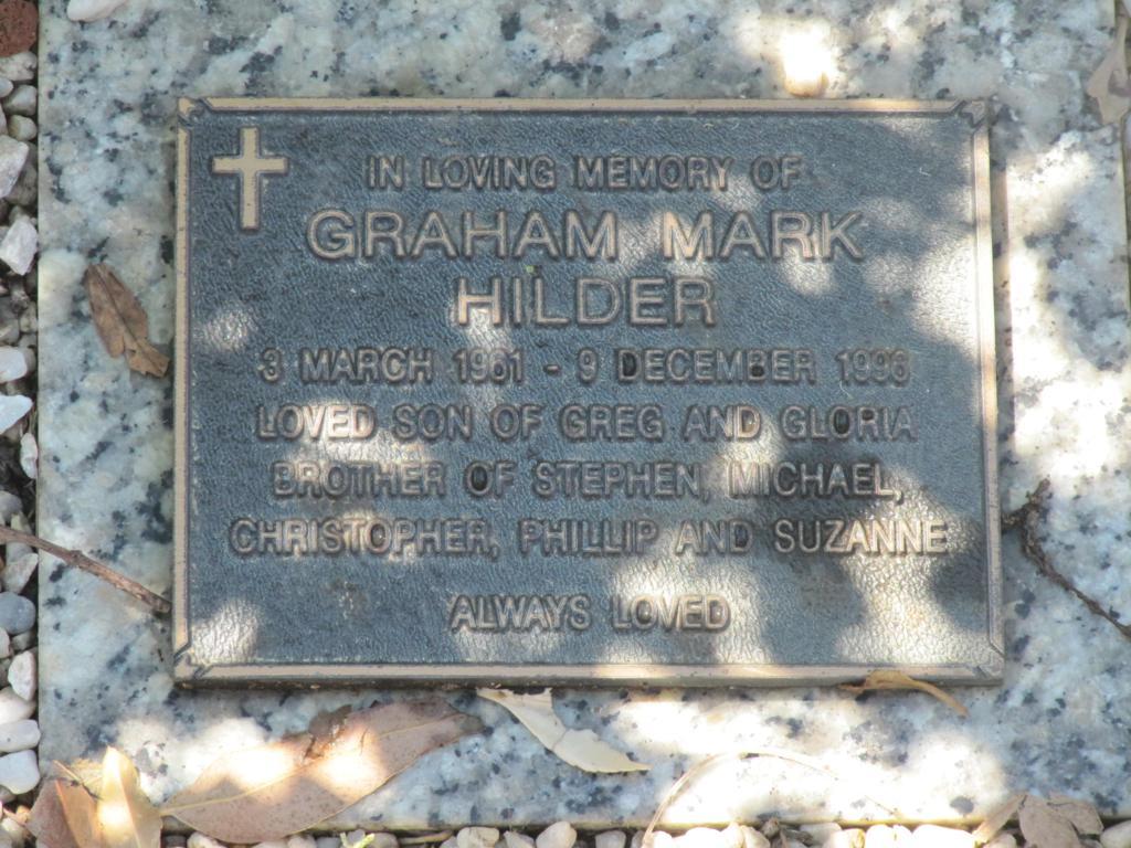 Graham Mark HILDER - NSWPF - Suicide - 091296 - Grave