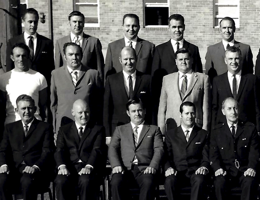 Noel is in the centre of the top row.  This is part of a group photo of the Sergeant's Course # 2 of 1971.