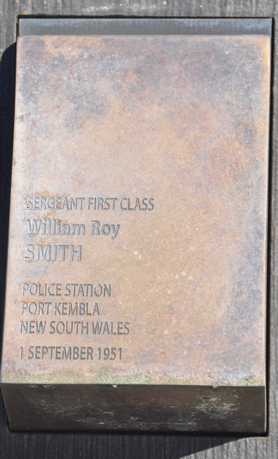 Sgt 1/Class William Roy SMITH touch plate in Canberra