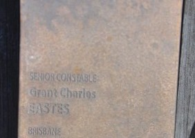 Senior Constable Grant Charles EASTES touch plate at the National Police Wall of Remembrance, Canberra.