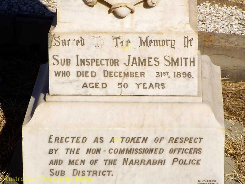 Grave of Sub-Inspector James SMITH