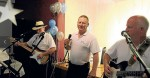 LOCKED AND LOADED: Keith Turner, Wilf Reid and Tony Nichols of local band Lock, Stock & Bingle got everyone up and dancing at the Cootamundra Ex-Service's Club for Paul Wilcox's fundraiser on Saturday night.