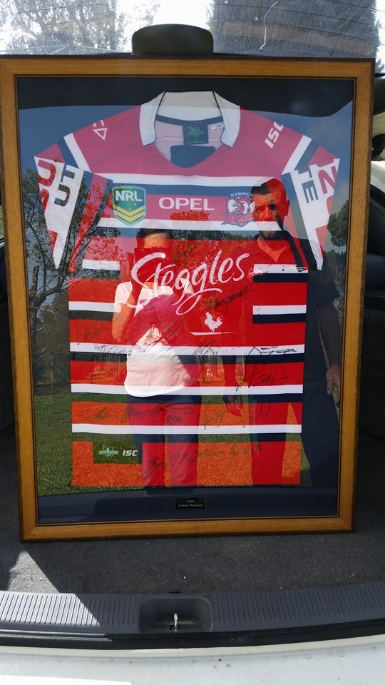 Well here is the jersey all framed....looking awesome