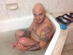 We are staying in a motel for a couple of days. Paul is trying out the spa to see if it helps with his pain relief. — at Monte Villa. 28 July 2014