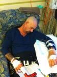 15 May 2013 Hard at work getting his chemo.