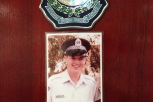 Plaque in the Muster Room of Sutherland Police Station in memory of Ashley John HARDIN