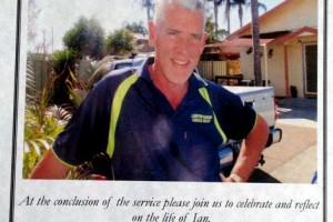 Ian Mark REAKES Eulogy pamphlet issued at the funeral