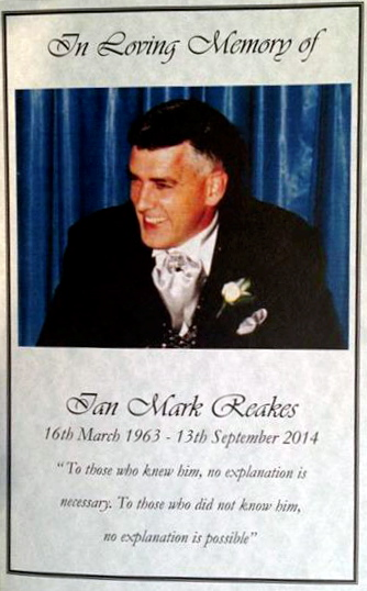 Ian Mark REAKES - Funeral pamphlet - 19 September 2014