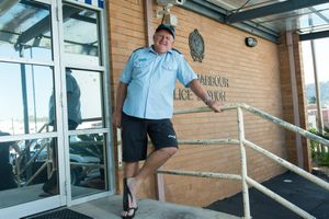 Retiring police officer Senior Constable Phillip Jacobson at Coffs Harbour Police Station Photo: Trevor Veale / The Coffs Coast Advocate Trevor Veale