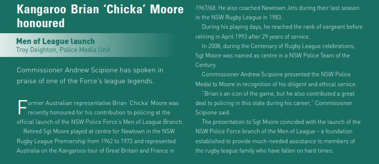 Brian 'Chicka' Moore 3 - NSWPF - Died 26 Oct 2014