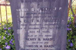 F. B. RUSSELL - Grave of Emily Agnes HARDY - 4th daughter of the Late Lt. Col. F. B. Russell.