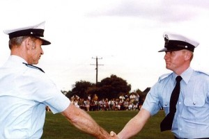 A picture with then Chief Commissioner Mick Miller was one of Nigel Atkins' prized possessions.