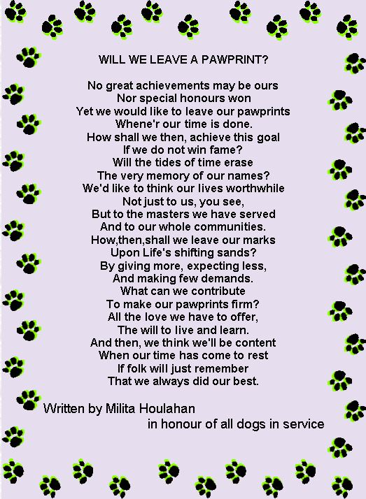 Ode' to Police Dogs - Will we leave a pawprint ?