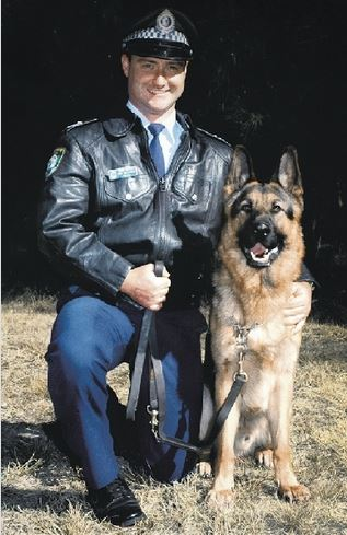 Police Dog CARTS & Senior Constable Dave WILLIAMS.