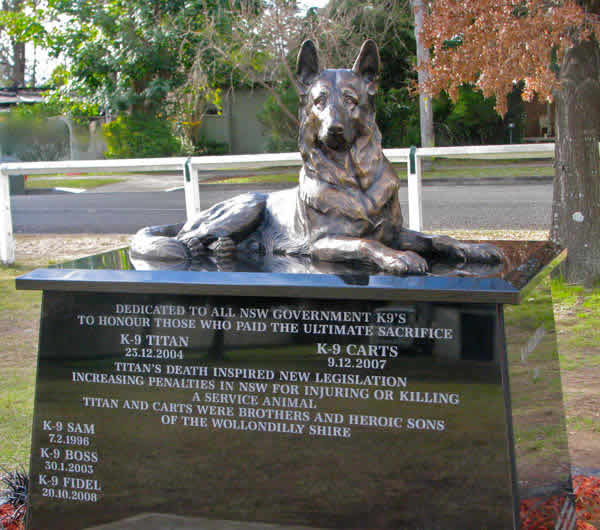 Police Dog Memorial - Thamoor NSW