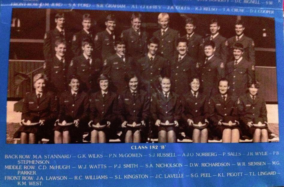 Scott Andrew NICHOLSON - Class photo taken at Redfern Police Academy. Class 182 'B'