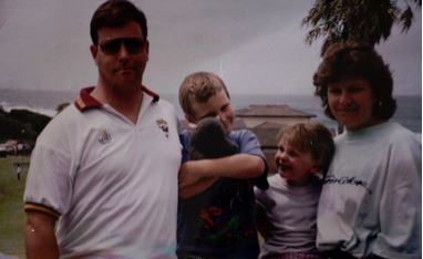 Detective Sergeant Scott Andrew Nicholson with his family.