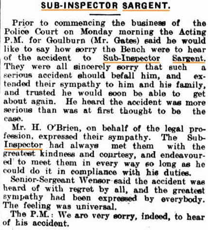 Goulburn Evening Penny Post ( NSW ) Tuesday  22 July 1913 page 4 of 4