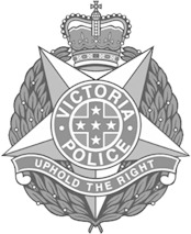 VicPol Crest - black and white