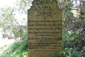 Charles Samuel BROWN grave stone - Norfolk Island.