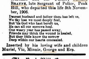 George PAYNE - Memorial post 1907