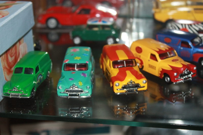 Buster collects toy metal cars now as there were no toys like these during WWII - all metal was collected and used for War Service