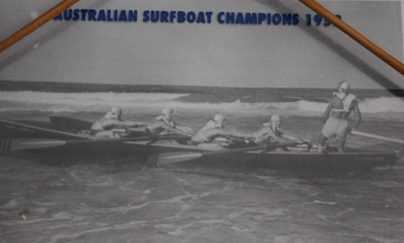 South Curl Curl - Boat Crew:  Sir Adrian Curlewis was Patron of the crew's Jack Wilson surfboat.